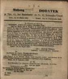 Dodatek do Nr. 41. Dziennika Urzęd. Poznań, 11 . Pażdziernika 1853