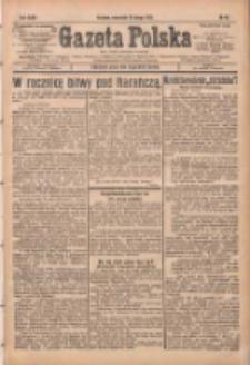 Gazeta Polska: codzienne pismo polsko-katolickie dla wszystkich stanów 1931.02.19 R.35 Nr40