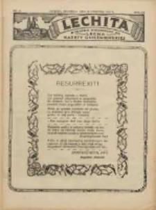 Lechita: dodatek niedzielny do Lecha - Gazety Gnieźnieńskiej 1930.04.20 R.7 Nr16