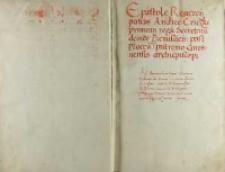 Andreas Cricius decanus Posnaniensis Petro Tomicio archidiacono Cracoviensi regio secretario, Żbików 15.04.1508