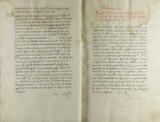 Andreas Cricius Petro Tomicio episcopo Posnaniensi et regni Poloniae vicecancellario, Brześć 26.12.1521
