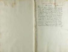 Petro Tomicio episcopo Premislensi Andreas Cricius, Toruń 1520