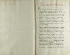 Petro Tomicki Andreas Cricius, Toruń 08.03.1521