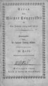 Acten des Wiener Congresses in den Jahren 1814 und 1815. H.28