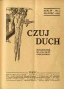 Czuj Duch: miesięcznik młodzieży harcerskiej 1925.03 R.4 Nr3=35