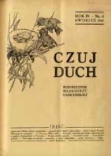Czuj Duch: miesięcznik młodzieży harcerskiej 1925.04 R.4 Nr4=36