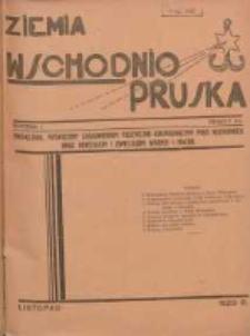 Ziemia Wschodnio-Pruska: miesięcznik poświęcony zagadnieniom polityczno-gospodarczym Prus Wschodnich oraz obyczajom i zwyczajom Warmji i Mazur 1929.11 R.1 Nr7