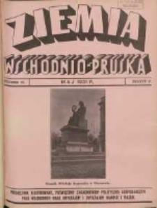 Ziemia Wschodnio-Pruska: miesięcznik poświęcony zagadnieniom polityczno-gospodarczym Prus Wschodnich oraz obyczajom i zwyczajom Warmji i Mazur 1931.05 R.3 Nr5