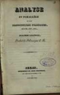 Analyse et paralléle des trois constitutions polonaises, de 1791, 1807, 1815