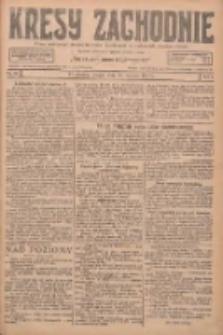 Kresy Zachodnie: pismo poświęcone obronie interesów narodowych na zachodnich ziemiach Polski 1927.01.25 R.5 Nr19