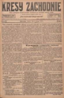 Kresy Zachodnie: pismo poświęcone obronie interesów narodowych na zachodnich ziemiach Polski 1927.02.08 R.5 Nr30