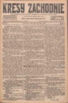 Kresy Zachodnie: pismo poświęcone obronie interesów narodowych na zachodnich ziemiach Polski 1927.02.16 R.5 Nr37