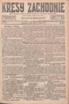 Kresy Zachodnie: pismo poświęcone obronie interesów narodowych na zachodnich ziemiach Polski 1927.02.18 R.5 Nr39