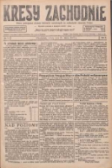 Kresy Zachodnie: pismo poświęcone obronie interesów narodowych na zachodnich ziemiach Polski 1927.03.26 R.5 Nr70