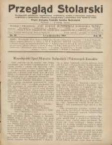 Przegląd Stolarski: dwutygodnik poświęcony zagadnieniom architektury wnętrz a mianowicie: stolarstwu, rzeźbiarstwu, tapicerstwu, tokarstwu, koszykarstwu, zdobnictwu oraz handlowi mebli: organ Związku Polskich Cechów Stolarskich 1929.10.16 R.3 Nr20