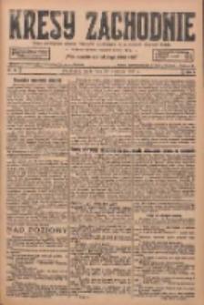 Kresy Zachodnie: pismo poświęcone obronie interesów narodowych na zachodnich ziemiach Polski 1927.04.20 R.5 Nr90