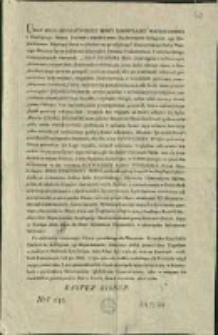 Ukaz Jego Imperatorskiey Mosci Samowładcy Wszechrossyi z Rządzącego Senatu Rzymsko-Katolickiemu Duchownemu Kolegium 1go Departamentu... Dan w Łucku dnia 6. kwietnia 1816 roku