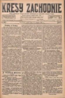 Kresy Zachodnie: pismo poświęcone obronie interesów narodowych na zachodnich ziemiach Polski 1927.08.19 R.5 Nr188