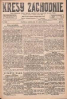 Kresy Zachodnie: pismo poświęcone obronie interesów narodowych na zachodnich ziemiach Polski 1927.08.21 R.5 Nr190