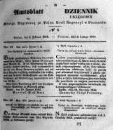 Amtsblatt der Königlichen Regierung zu Posen. 1844.02.06 Nro.6