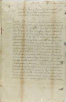 List sejmu śląskiego do króla Zygmunta III, Wrocław 06.08.1604