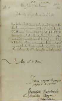 List Stanisława Karnkowskiego arcybiskupa gnieźnieńskiego do hetmana Jana Zamoyskiego, Łęczyca 04.10.1601