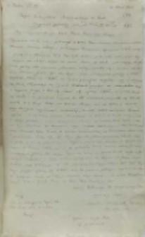 Kopia listu Stanisława Działyńskiego kasztelana elbląskiego do króla Zygmunta III, Osiecko 21.05.1603