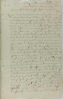 List Mikołaja Śligęzy z Bobrku kasztelana żarnowskiego do Zbigniewa Ossolińskiego wojewody sandomierskiego, Guzy 06.03.1616