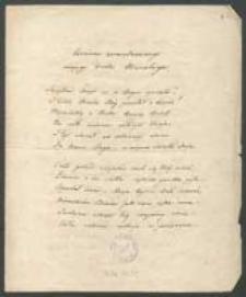 Wiersze Henryka Skałkowskiego. Odpis Justyny Klary Skałkowskiej