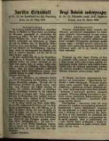 Drugi Dodatek nadzwyczajny do Nr. 12 Dziennika urzęd. Król. Regencyi. Poznań, dnia 25. Marca 1862.