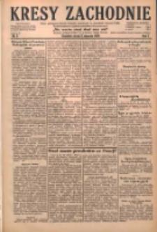 Kresy Zachodnie: pismo poświęcone obronie interesów narodowych na zachodnich ziemiach Polski 1929.01.02 R.7 Nr2