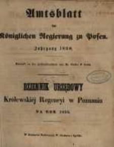Amtsblatt der Königlichen Regierung zu Posen. 1858.01.05 Nro.1
