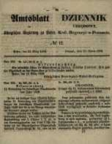 Amtsblatt der Königlichen Regierung zu Posen. 1858.03.23 Nro.12