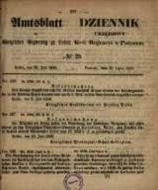 Amtsblatt der Königlichen Regierung zu Posen. 1858.07.20 Nro.29