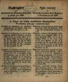 Sachregister zum Amtsblatte ... pro 1858