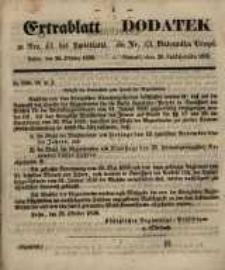 Centralblatt zu Nro. 43. des Amtsblatts. Posen, den 26. Oktober 1858