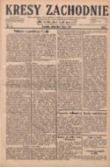 Kresy Zachodnie: pismo poświęcone obronie interesów narodowych na zachodnich ziemiach Polski 1929.01.18 R.7 Nr14