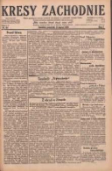 Kresy Zachodnie: pismo poświęcone obronie interesów narodowych na zachodnich ziemiach Polski 1929.03.14 R.7 Nr60