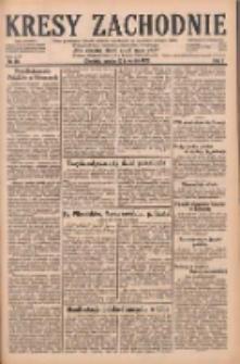 Kresy Zachodnie: pismo poświęcone obronie interesów narodowych na zachodnich ziemiach Polski 1929.04.13 R.7 Nr85