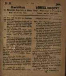 Amtsblatt der Königlichen Regierung zu Posen. 1860.05.29 Nro.22