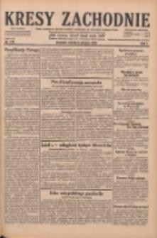 Kresy Zachodnie: pismo poświęcone obronie interesów narodowych na zachodnich ziemiach Polski 1929.08.06 R.7 Nr178