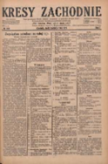Kresy Zachodnie: pismo poświęcone obronie interesów narodowych na zachodnich ziemiach Polski 1929.10.09 R.7 Nr232