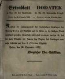 Dodatek do Nr. 39. Dziennika Urzęd. Poznań, 28. Września 1852.
