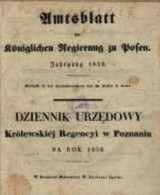 Amtsblatt der Königlichen Regierung zu Posen. 1850.01.01 Nr 1