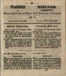 Amtsblatt der Königlichen Regierung zu Posen. 1850.05.21 Nr 21