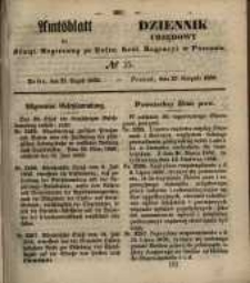 Amtsblatt der Königlichen Regierung zu Posen. 1850.08.27 Nr 35