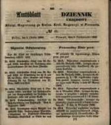 Amtsblatt der Königlichen Regierung zu Posen. 1850.10.08 Nr 41