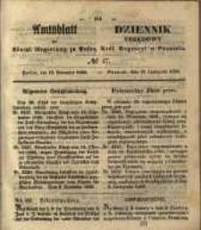 Amtsblatt der Königlichen Regierung zu Posen. 1850.11.19 Nr 47