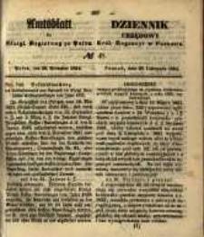 Amtsblatt der Königlichen Regierung zu Posen. 1854.11.28 Nro.48
