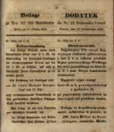 Dodatek do Nr. 42. Dziennika Urzęd. Poznań, 17. Października 1854